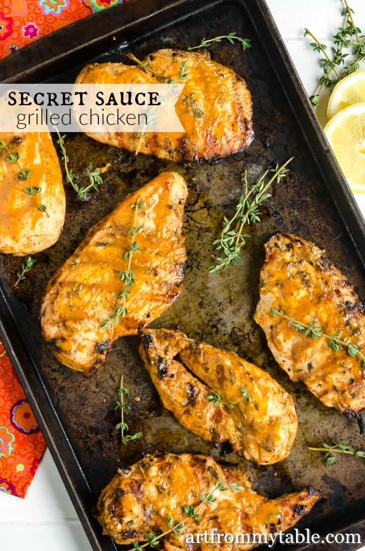 Want a super easy dinner everyone will devour? This is it!! An easy chicken marinade that's tangy and savory made with delicious spices and fresh ingredients. This one will keep you coming back for more. #grilling #chicken #easyweeknightmeal #dinnertonight #grillrecipes #makeahead #freezermeal #freezerfriendly via @artfrommytable
