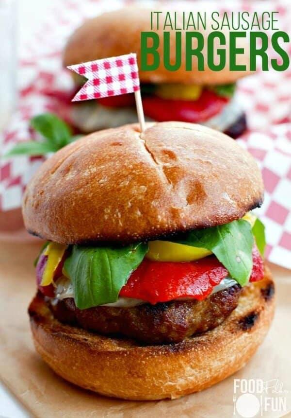 Italian sausage burgers meal plan august week 5