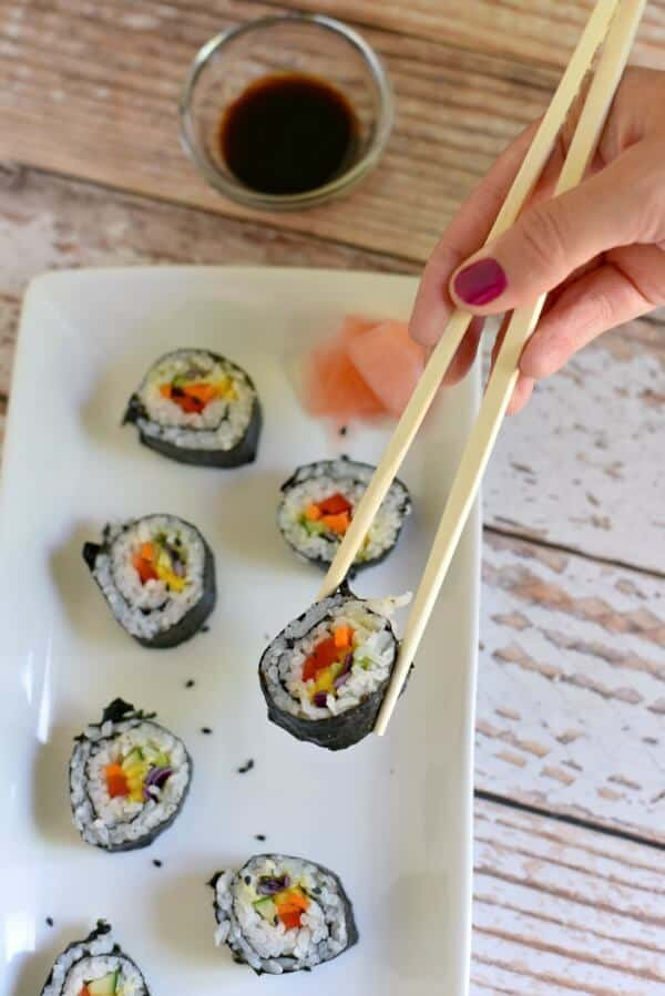 rainbow sushi easy meal plan