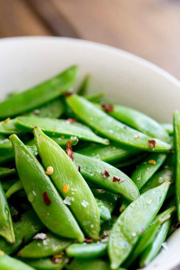 Sugar snap peas - meal plan august week 2