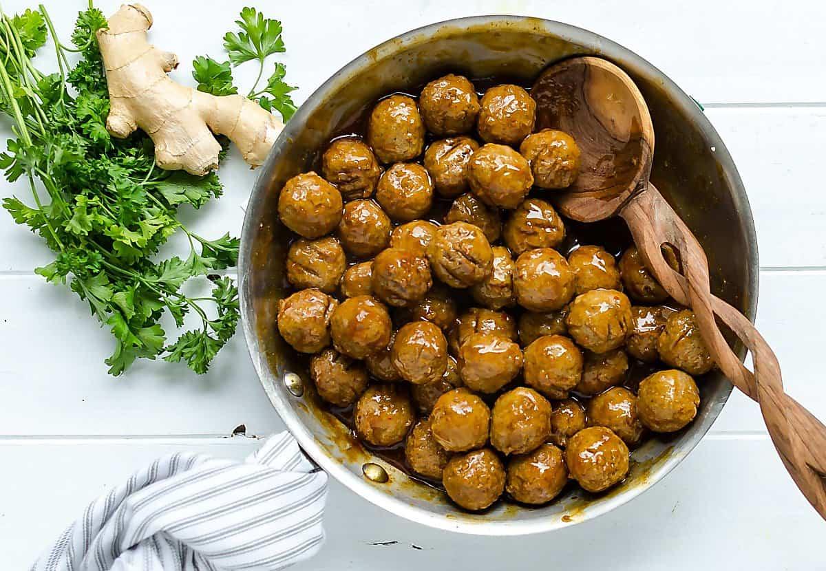easy turkey meatball recipe Hawaiian style meatballs