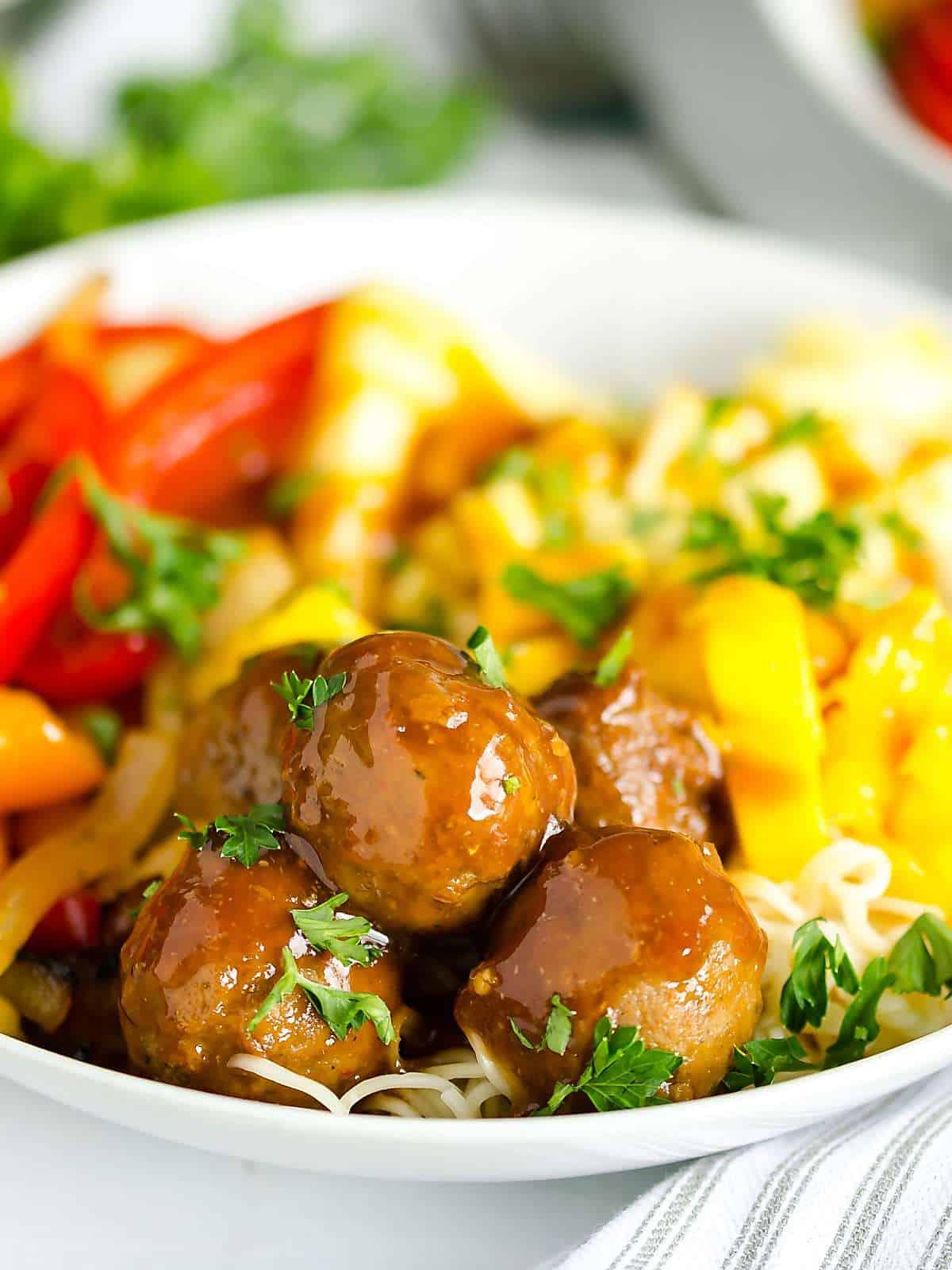 Hawaiian style meatballs - quick dinner solutions