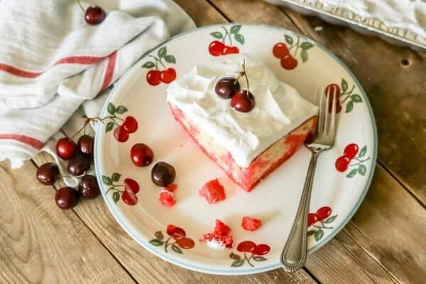 cherry poke cake easy dessert
