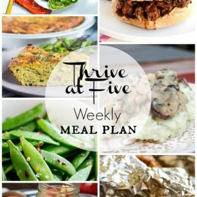 Thrive At Five Meal Plan August Week 2