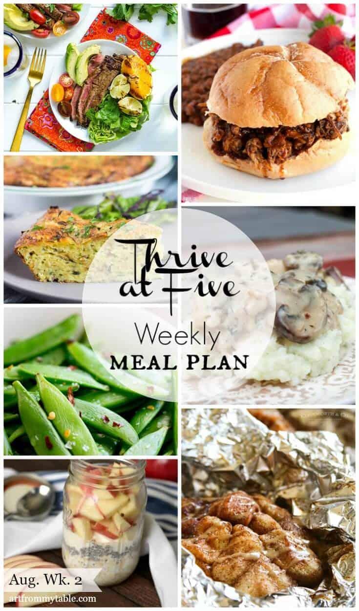 meal plan august week 2