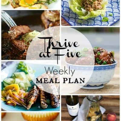Thrive At Five Meal Plan August Week 3