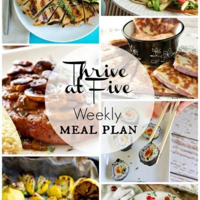 Thrive at Five Meal Plan August Week 4