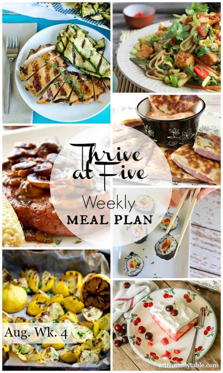 meal plan august week 4