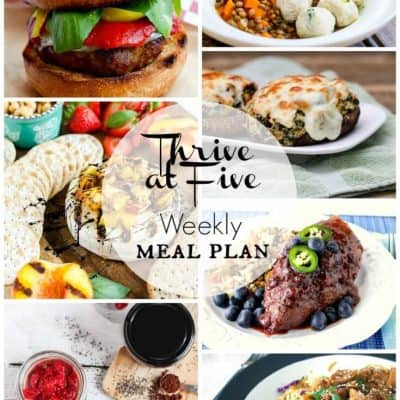 Thrive at Five Meal Plan August Week 5