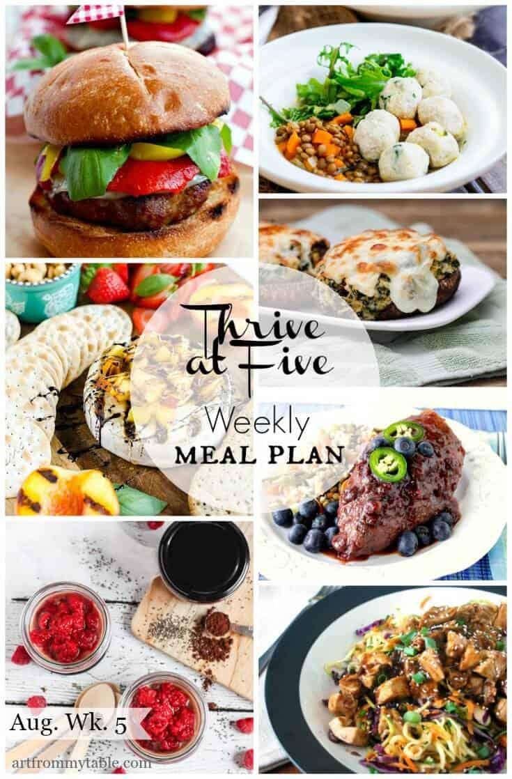 meal plan august week 5