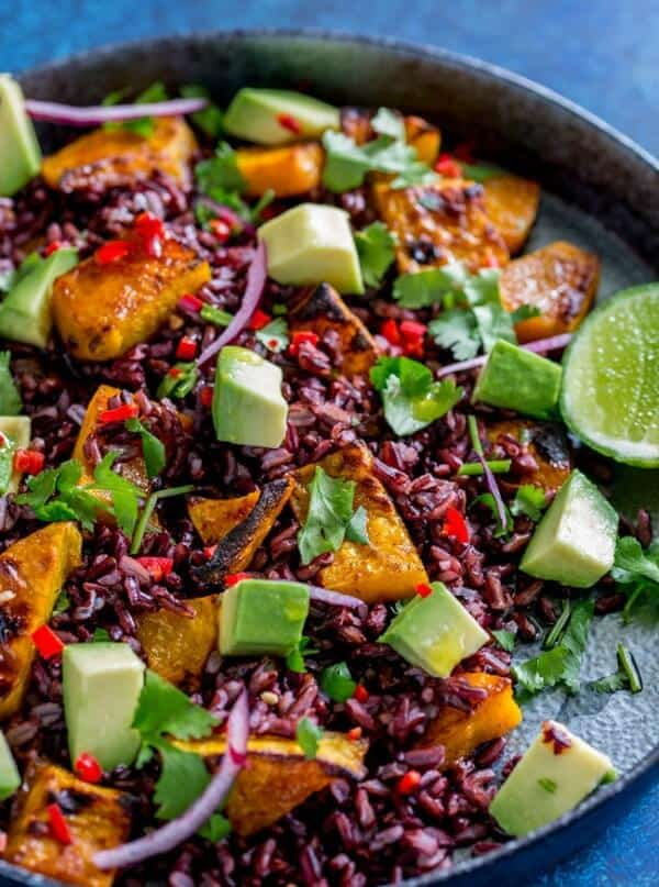 Black rice and pumpkin salad meal plan september week 2