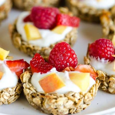 Coconut Granola Fruit Cups