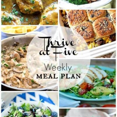 Thrive at Five Meal Plan September Week 1