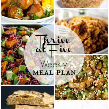 thrive at five weekly meal plan september week 2