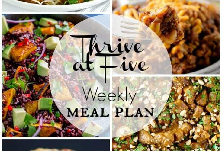 Thrive at Five Meal Plan September Week 2