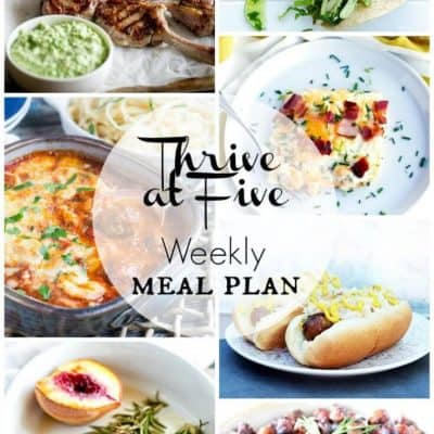 Thrive At Five Meal Plan September Week 3