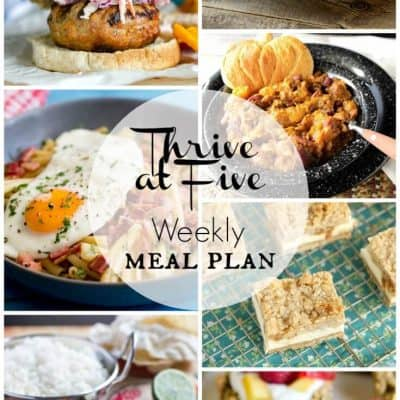 Thrive at Five Meal Plan September Week 4