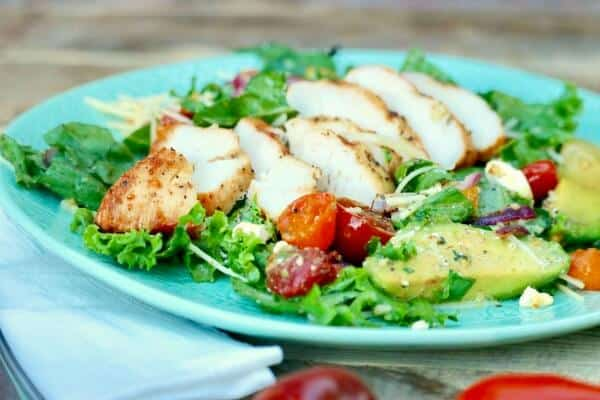 grilled summer chicken salad easy meal plan