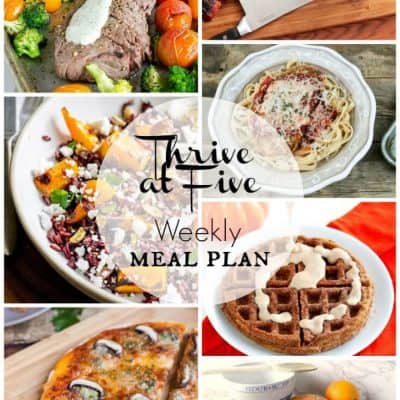 Thrive at Five Meal Plan October Week 2