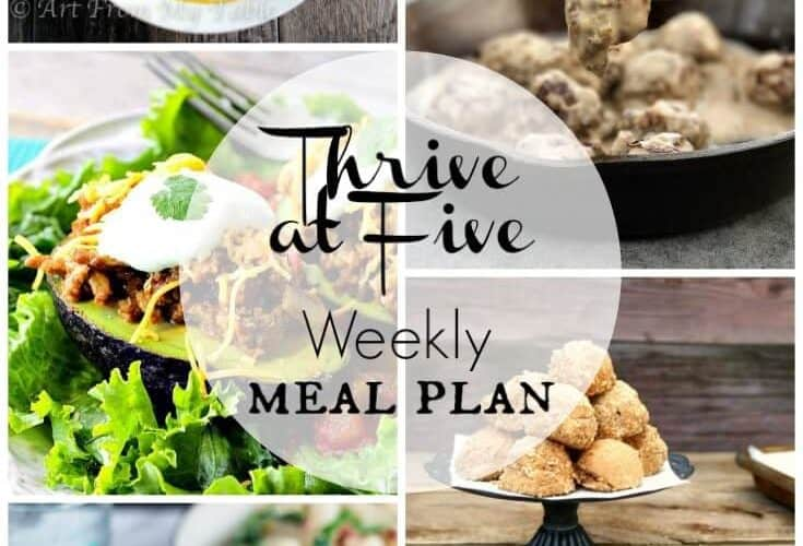 Thrive at Five Meal Plan October Week 3