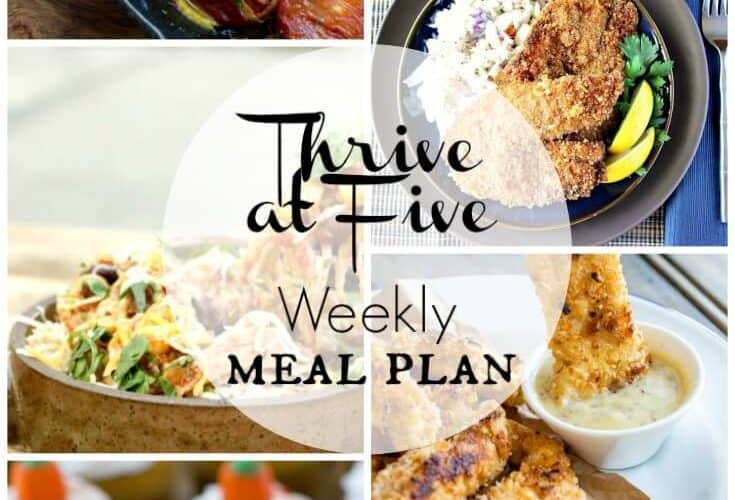 Thrive at Five Meal Plan October Week 4