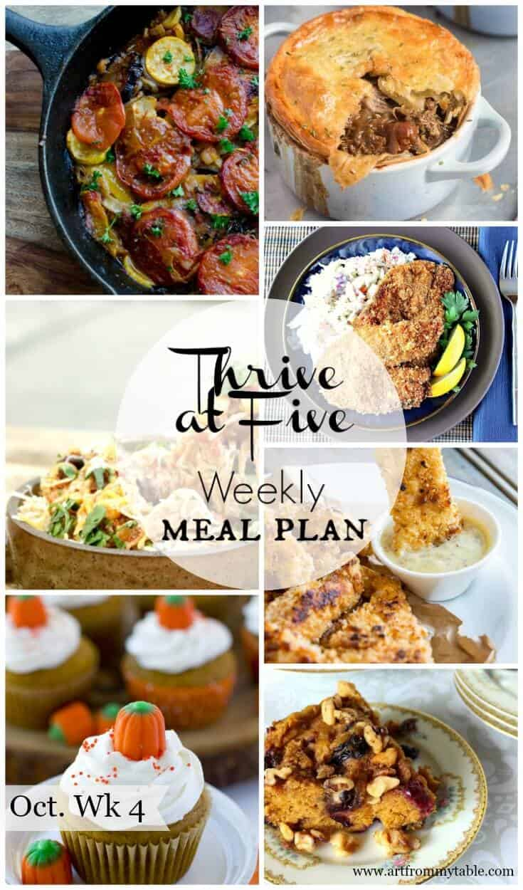 Stop surviving and start thriving through the dinnertime dilemma. Here's your weekly meal plan October week 4