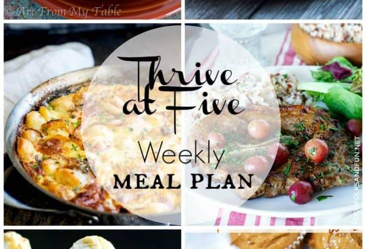 Thrive At Five Meal Plan November Week 1
