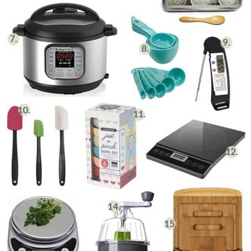These kitchen gadgets for the home cook are fun, cute, and practical! Even better? You can shop from your couch in your p.j.'s if you want to. ;-)