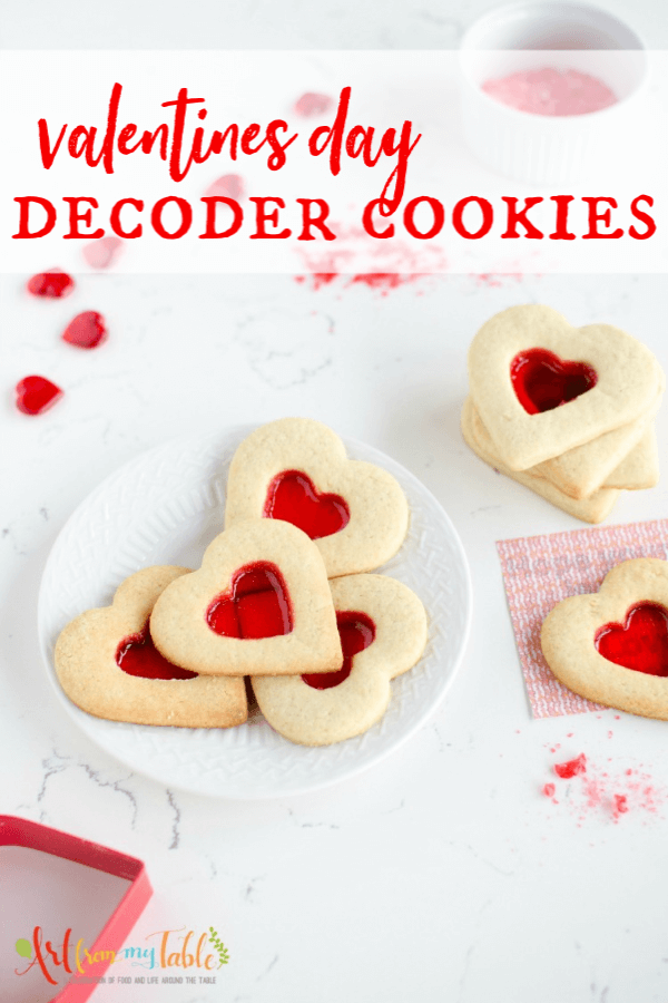 These Valentine's Day Sugar Cookies reveal secret messages! Perfect to give your kids for Valentines Day, or, make them for the class party! #artfrommytable #valentinesdaycookies #secretmessagecookies via @artfrommytable