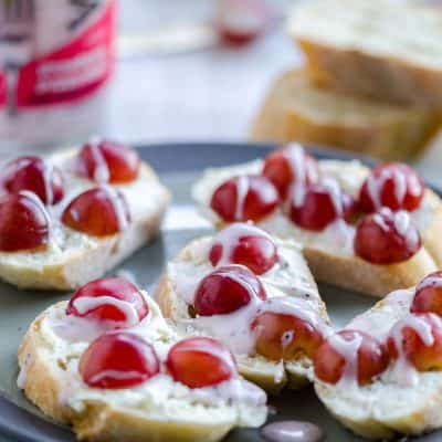 Lunchbox Grape Crostini