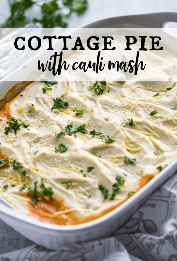 You will never know this is low carb because it tastes like pure comfort! We've put a healthy spin on this classic cottage pie recipe, using a leaner meat, fresh veggies and herbs, and we've loaded it up with flavor. If low carb or keto is your thing, you'll love this! via @artfrommytable