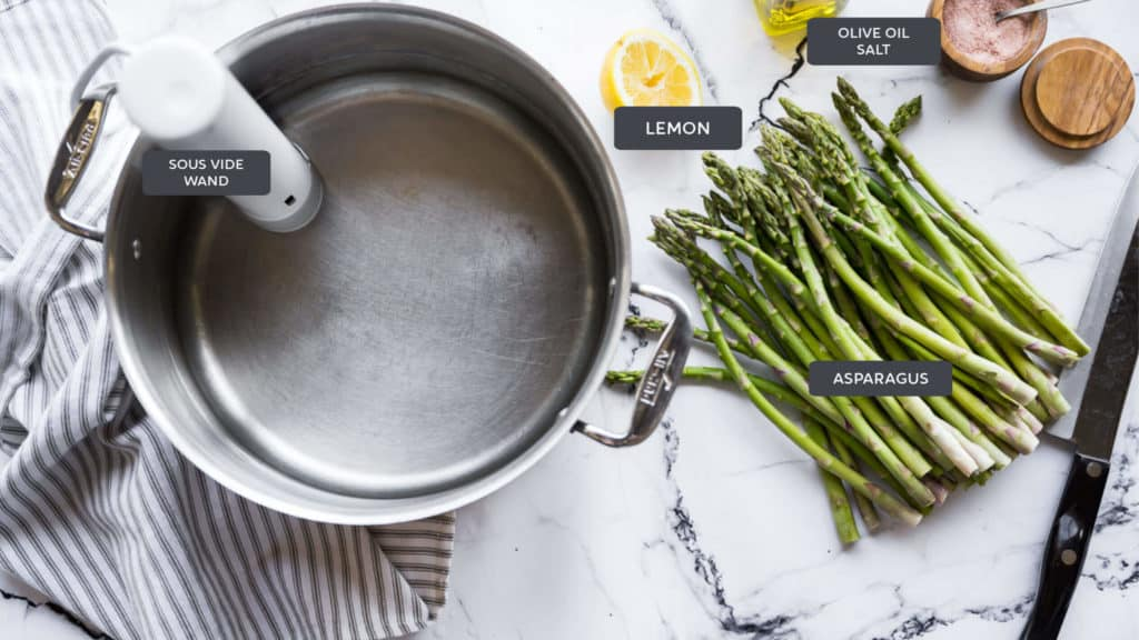 ingredients for sous vide asparagus