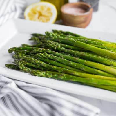 platter of asparagus