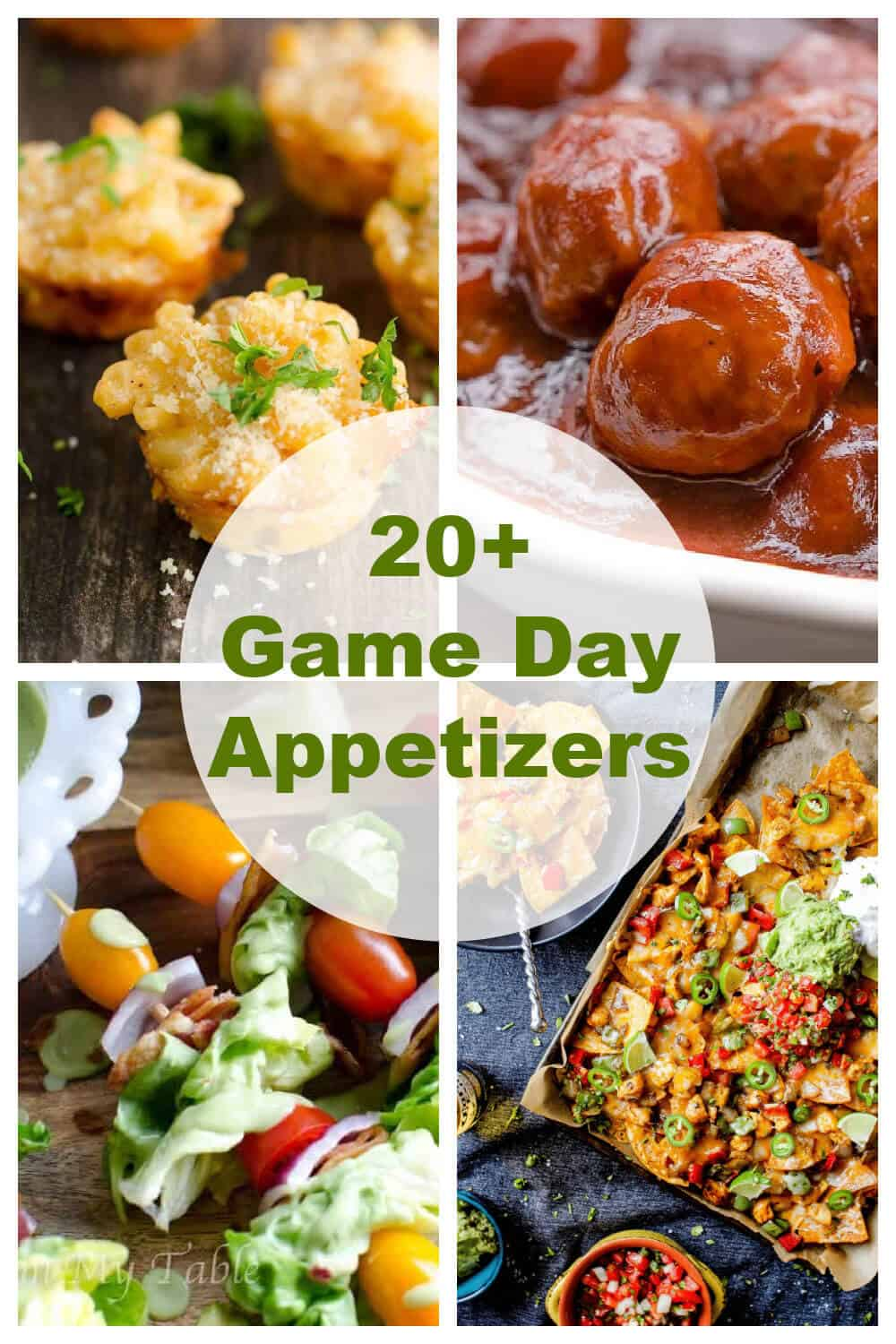 Big or small gathering, these game day appetizers are sure to put you on the winning team! From easy apps to healthy apps, find it here! via @artfrommytable