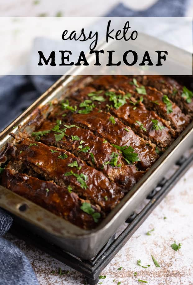 This Low Carb Meatloaf is just as meatloaf should be-- tender and moist, soft but never mushy, cuts easily with a fork, but can be picked up without breaking, oozing juices, but not greasy, meaty and savory-- but, in a healthier low carb version! via @artfrommytable
